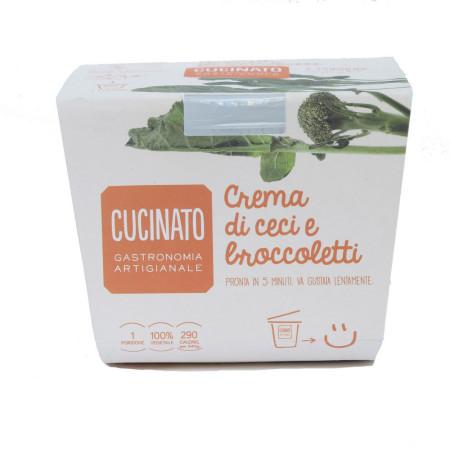 Crema di ceci e broccoletti
